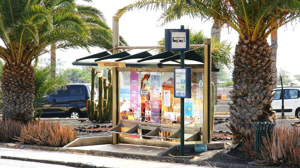 Bus Stop in Costa Teguise