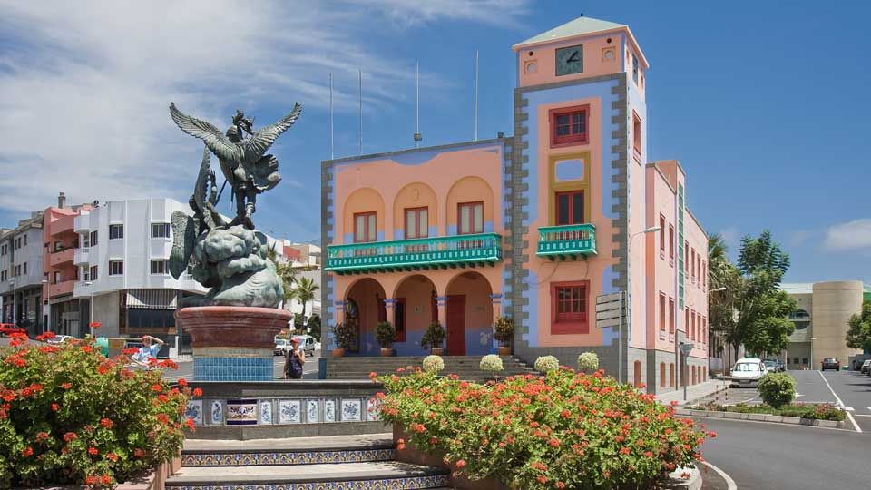 Central Square of Tazacorte La Palma