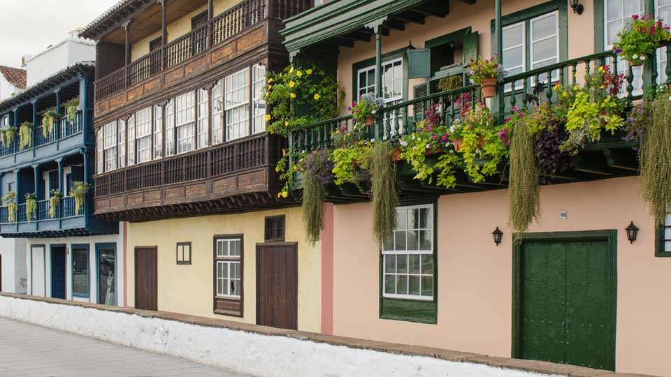 Colored Balconies in Santa Cruz de La Palma