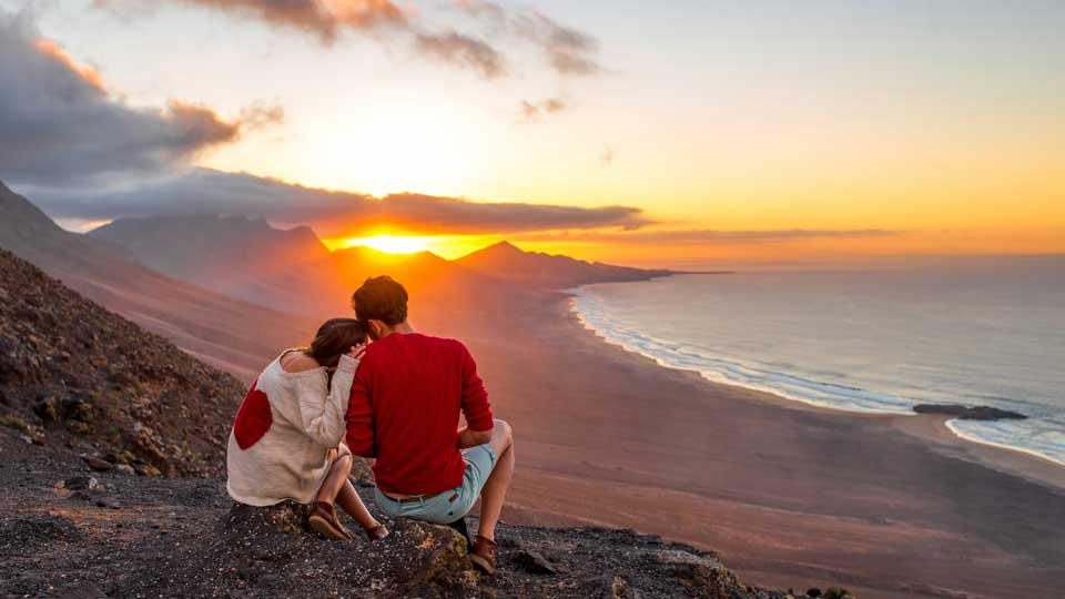 Couple in Fuerteventura Canary Islands
