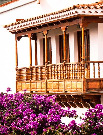 Typical Old Wooden Balcony
