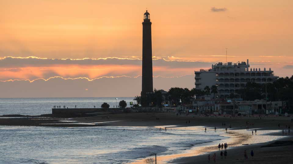 Maspalomas Lighthouse Sunset