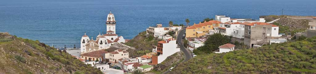 a view from the top of Candelaria in Tenerife