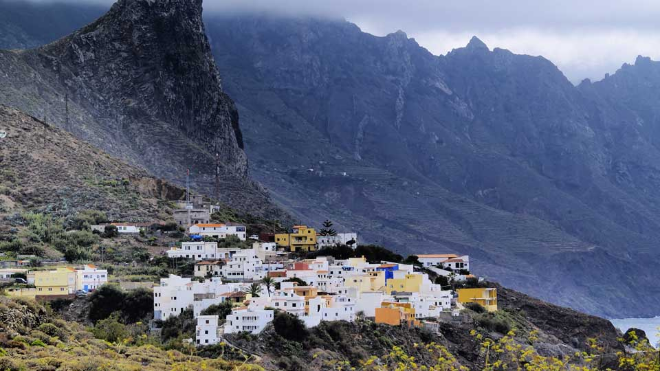 Taganana Town in Tenerife