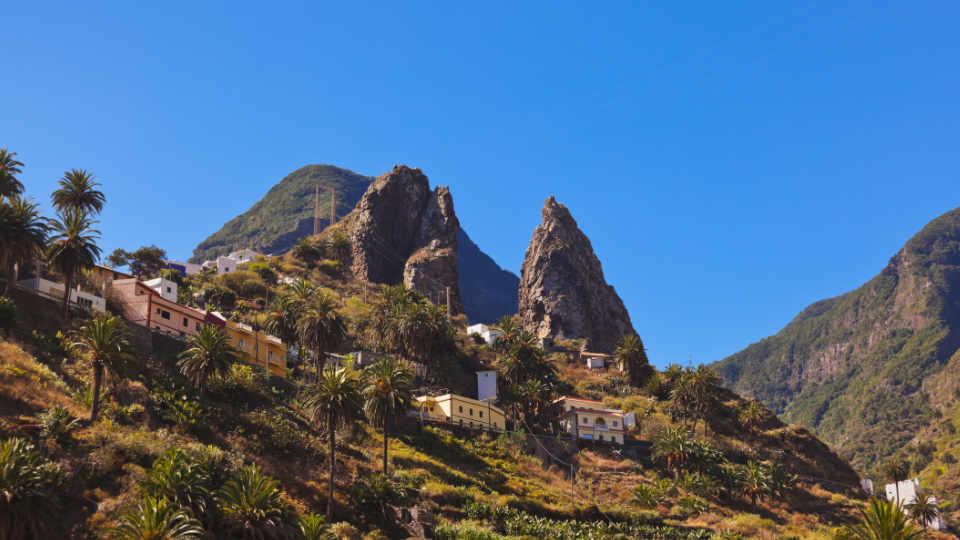 Hermigua Valley in La Gomera