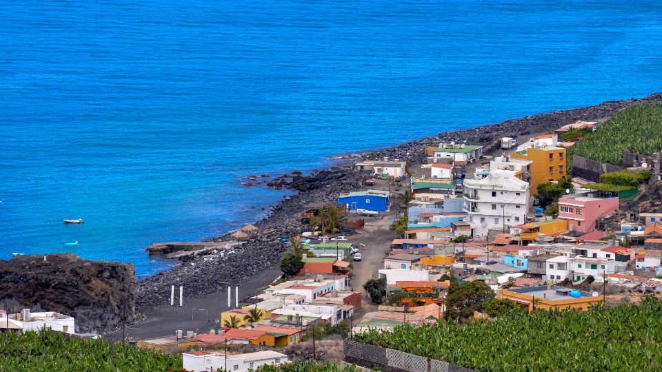 Small Sea Village in La Palma