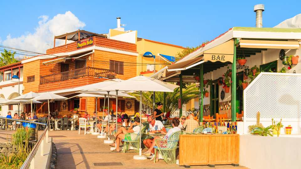 Restaurants Along La Caleta Promenade
