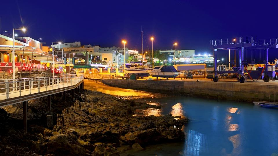 Nighttime at the Puerto del Carmen Harbor