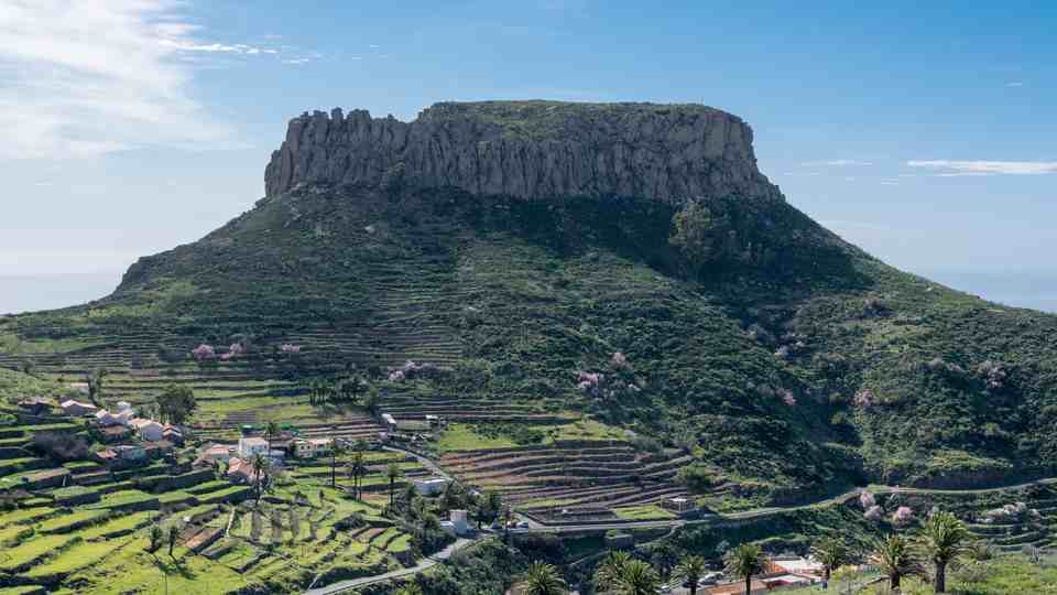 The Rare Table-Top Mountain of La Fortaleza in Chipude
